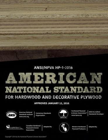 American National Standard for Hardwood and Decorative Plywood (ANSI/HPVA HP-1-2016)