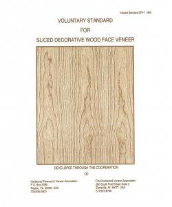 Voluntary Standard for Sliced Decorative Wood Face Veneer, DVF-1 1995